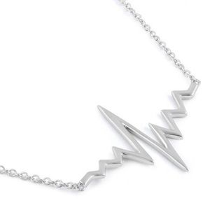 Jewelry - Sterling Silver Heartbeat Necklace